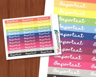 Rainbow bold header box - Choice of title - Planner stickers for Happy Planner, Erin Condren, and more!