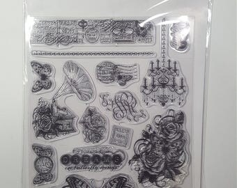 On Butterfly Wings Acrylic Stamp Set