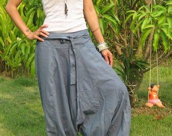Harem Pants Women Baggy Pants Aladdin Yoga Pants Harem Baggy Pants Men Gypsy Pants Harem Boho Pants * HL - grey