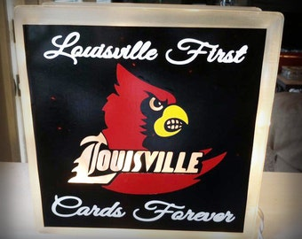 Louisville First Cards Forever Lighted Glass Block