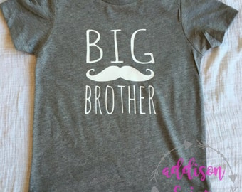 2 designs -Big Brother Shirt or bodysuit- arrow or mustache