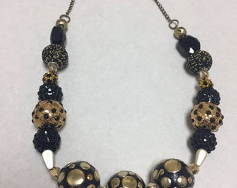 Black and gold chunky necklace