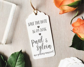 Custom Save The Date Stamp | Wedding Stamp - Brush Calligraphy - Wedding Stationery - Save The Dates