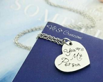 Collana necklace grey's anatomy you're my person Meredith Derek Cristina