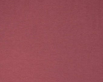 Dusty Marsala Solid Cotton Spandex Knit Fabric, Jersey Knit, Rose, Berry, Raspberry 5149