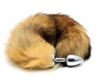 Foxy Fox Tail Butt Plug - Faux Fox Tail Cosplay Anime Sexy Cute Animal Furry Kinky Pleasure