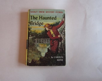 Nancy Drew The Haunted Bridge 1960s Original Text, Nancy Drew Number 15 Original Text, Nancy Drew vintage book, 1960s Nancy Drew book