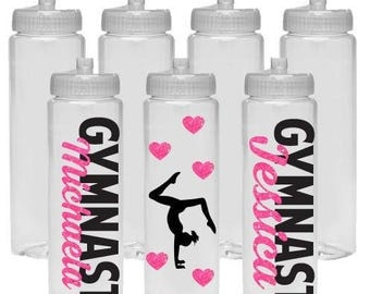 CUSTOM ADD GYMNAST Water Bottle