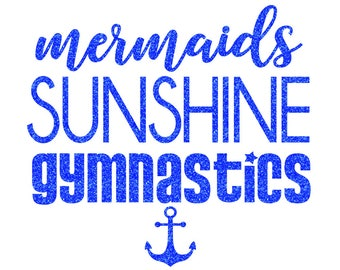 Mermaids Sunshine Gymnastics Iron On Decal