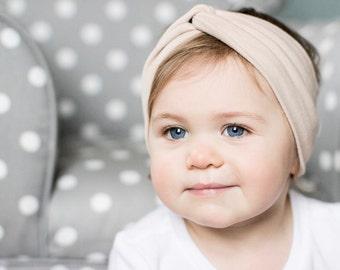 Oatmeal baby turban headband