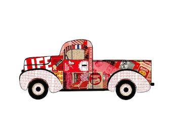 Truck Print Note Cards Pick Up with Life Magazine Life Savers Campbell's Soup Wonder Bread Hunts