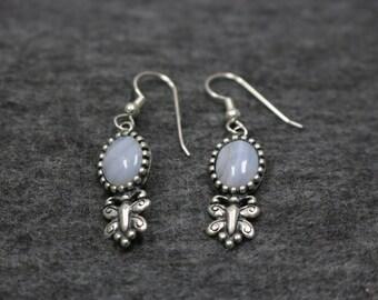 BEAUTIFUL Sterling Silver Dropping Butterfly Dangle Earrings