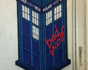 Tardis Back Patch - Bad Wolf - Dr. Who - Police Call Box- 1/2 OFF SALE