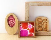 Set of 3 Miniature Artworks - Bright and Beautiful Mod Blobs