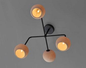 Ceiling Mounted Light Fixture, Flush Mount Light, Metal Ceiling Light. Ceiling light