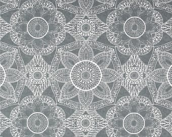 Mystic Gray Home Decor Fabric by the Yard Designer Cotton Drapery Fabric Curtain Fabric Upholstery Fabric Gray Decorating Fabric C752