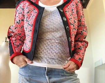 Pristine 1980s Vintage Jeanne Marc quilted avant-garde jacket P 4/6