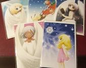 Christmas Cards, set of 5