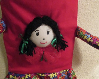 My Heritage Kidz Playmate Toddler back pack for girls handmade by Mvious Da'Zigns/ Reese