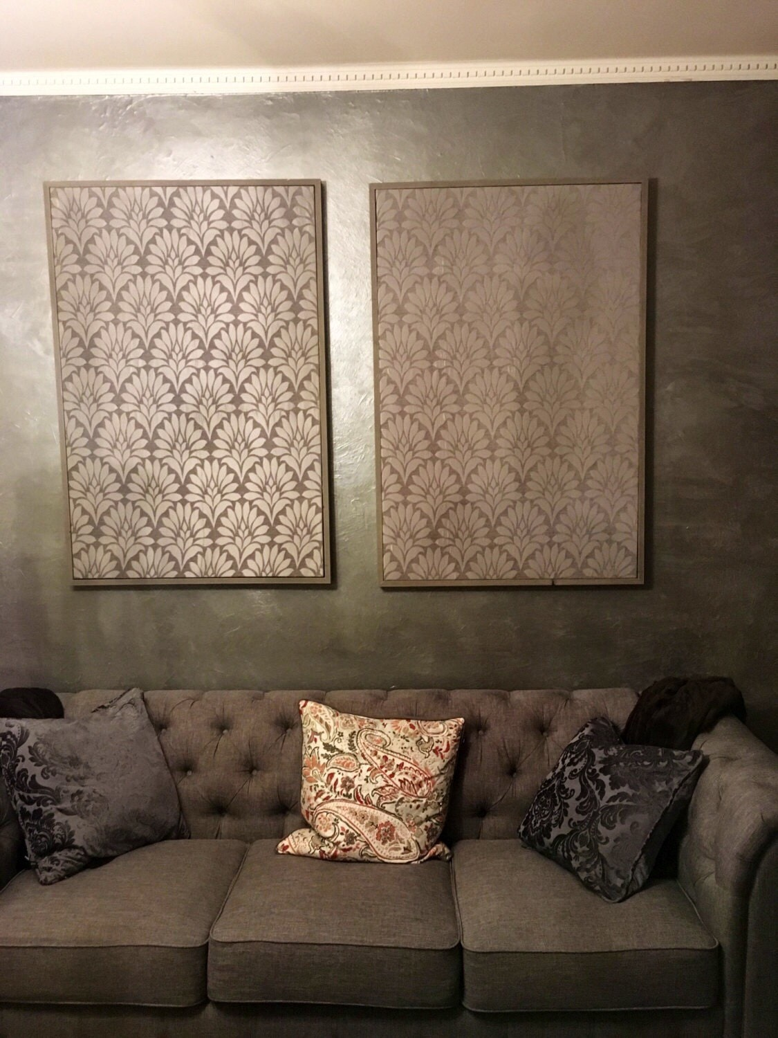 how to make framed fabric wall art