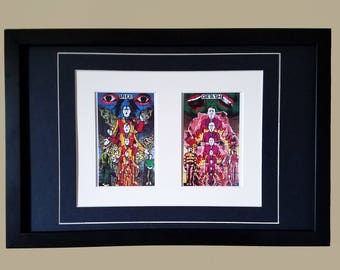 Gilbert and George - Life and Death - Matted & Framed