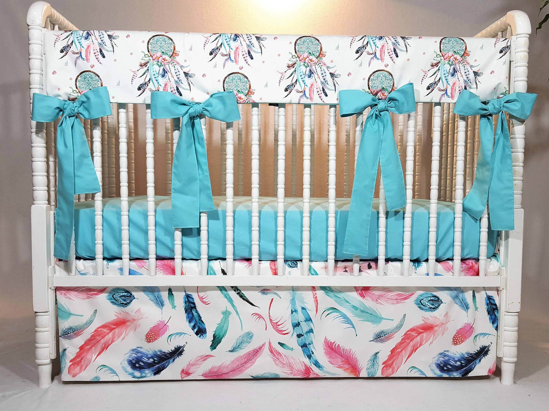 Dream Catcher Baby Bedding Dream Catcher Crib Rail Cover