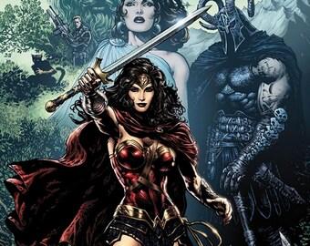"Wonder Woman Comic Book Artwork 12"" x 18"" Poster"