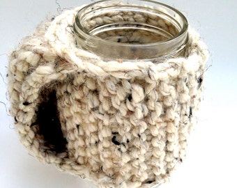 Handle mug holder | mug cozy | tea accessories | coffee accessories | hand knit | hand warmers | knit accessories | knit cozy | mug cuff |