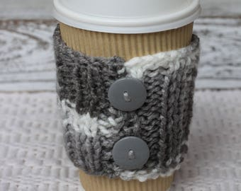 Knitted Cup cozy, cozies, gift under 10