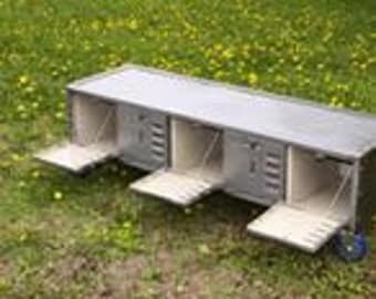 60 Inch Locker Bench Seat with Steel Top