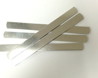 50 cuff blanks 1/2 x 6 or 7 inch 14 Gauge Polished Bracelet Blanks Pure Aluminum - flat