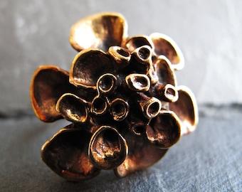 Hannu Ikonen Reindeer Moss Ring – Bronze Renmoosblüte Ring – Finnish Finland