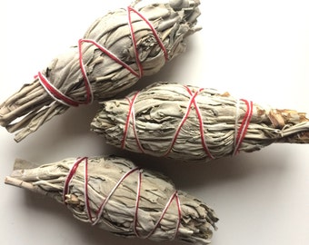 Smudge stick sage burn to cleanse your stones