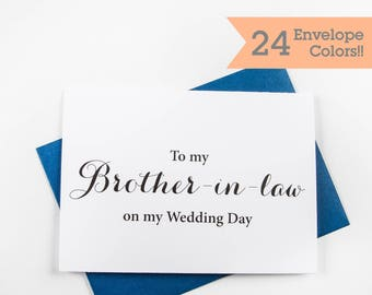 Wedding Card to my Brother in Law, Wedding Cards, Thank you card for Brother in Law (WC066-CA)