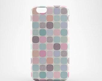 Pastel Geometric Hard case 3D case Apple iPhone 4 5 6 7 Samsung Galaxy S6 S7  #221