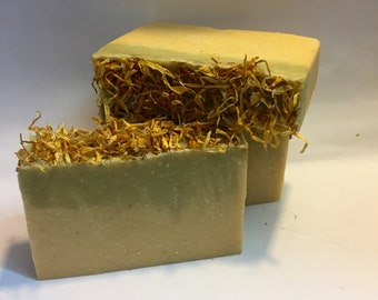 Mint Rosemary Organic Soap Hand Crafted, All Natural