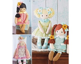 "Simplicity Pattern 8402 23"" Stuffed Dolls with Clothes"