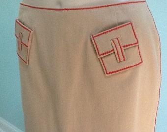 Skirt,Size 6,Etcetera,Kaki Hip Hugger Skirt