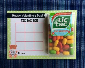 Tic Tac Toe Valentine - Instant Download - Valentine's Day Digital Printable -  Digital Valentines - Kids Valentines - Tic Tac Toe Game