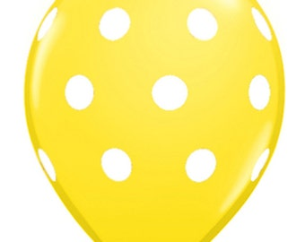 11 inch Polka Dots latex balloon- Yellow