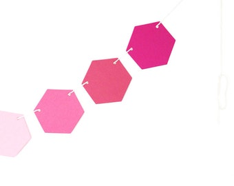 Hexagon Honeycomb Garland- Pinks