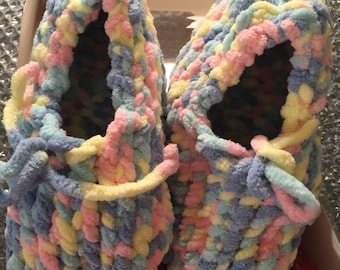 Slippers Loom Cotton Candy Slippers