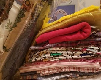 Scrap Fabric - great for small sewing projects, patchwork, quilting, etc.