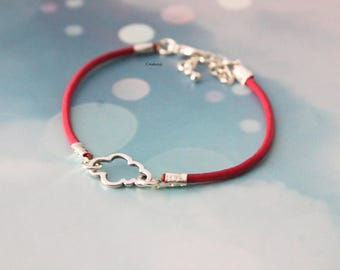 String poetic pretty cloud Rose bracelet