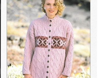 Beautiful Jaegar knitting pattern for a jacket / cardigan size 28 ins - 33 ins