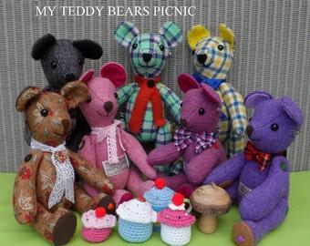 Harris Tweed Teddy Bear