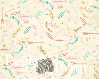 2ft.x2ft. Cute as a Feather - Vinyl Photography Backdrop - Backdrops with Glitter