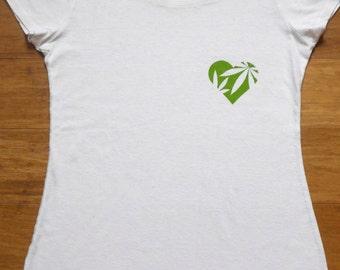 Heart MJ T-Shirt Hemp & Organic Cotton