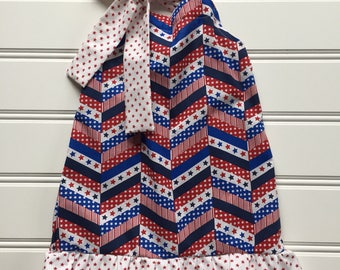 4th of July Dress, Toddler Dress, Red White Blue, 4th of July Outfit, Toddler Girl Dress, Little Girl Dress, Fourth of July Clothes, 3T, 4T