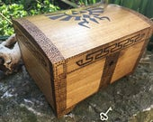 Legend of Zelda inspired chest lockable keepsake box zelda fan ocarina of time gift for gamer